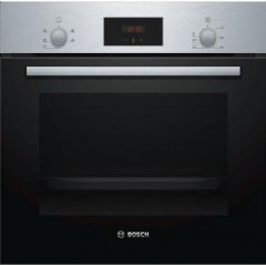 Bosch HHF113BR0B Serie 2 Built In Electric Single Oven with 3D Hot Air - Stainless Steel