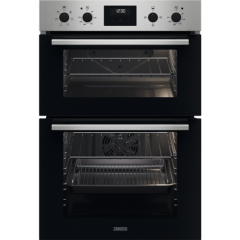 Zanussi ZKCXL3X1 Built In Electric Double Oven Stainless Steel